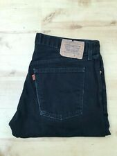 Men's Levi's 618 Orange Tab Tapered Leg Black Jeans W36 L32 (#A836)