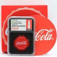 2018 Coca-Cola Coke Silver Bottle Cap Coin NGC PF70 Black Core Fiji $1 - JJ100