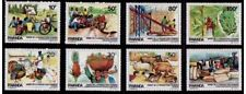 Rwanda**FOOD-Turkey-Poultry-Rooster-Banana-Ananas-8val-Pig-Sheep-Rabbit-1985-MNH