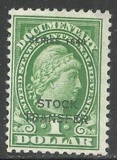 us revenue stock transfer stamp scott rd54 - $1 overprint issue of 1940