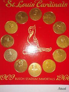 1966 St. Louis Cardinals Busch Stadium Immortals 12-Coins Display Stan Musial