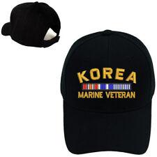 MILITARY BASEBALL CAP HAT KOREA MARINE VETERAN RIBBON