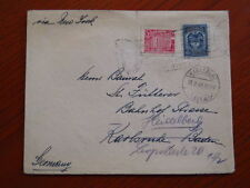 Colombia to Germany censorship Obercommando der Wehrmacht Karlsruhe 1939/40