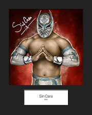 SIN CARA #1 (WWE) Signed (Reprint) 10x8 Mounted Photo Print - FREE DELIVERY