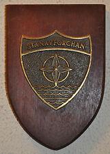 NATO STANAVFORCHAN plaque crest Royal Navy RN OTAN Stan's Navy MCMVs