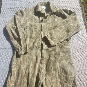Vintage Original Mossy Oak Coveralls Men's Medium MADE in USA