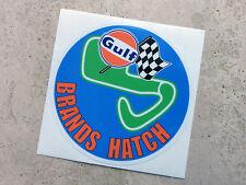 Gulf Brands Hatch racing circuit sticker 75 mm  - Gulf Licensed Merchandise