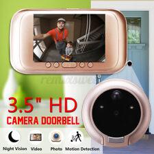 3.5'' Digital LED IR Camera Doorbell Peephole Viewer Door Eye Video Door Bell US