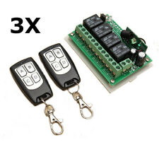3PCS GEEKCREIT 12V 4CH CHANNEL 433MHZ WIRELESS REMOTE CONTROL SWITCH WITH 2