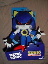 """metal sonic boom 12"""" plush sonic the hedgehog TOMY nib"""