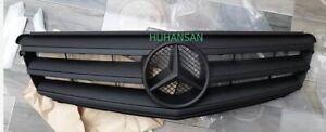 Matte Black For Mercedes-Benz C Class W204 C250 C300 C350 Front Grille 2008-2014