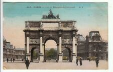 PARIS Arc de Triomphe - 1918 - VIAGGIATA -Partita da Barletta per zona di guerra