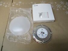 "12V LED 5"" RV/TRAILER/CAMPER PANCAKE ROUND PUCK LIGHT L9505  WHITE FROSTED LENS"