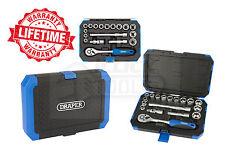 "Draper 16359 3/8"" Square Drive Metric Socket Set (18 PIECE) & Ratchet DD18M"