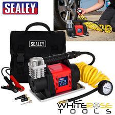 Sealey Tyre Inflator Mini Air Compressor 12V Heavy-Duty Portable Pump Car Van