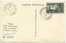 France 1937 Philatelic Exposition damaged card