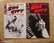 Comics, Sin City, nº 1 y 2, Moriría por ella, Legend, Norma Editorial, año 1994