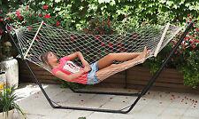 Amaca da giardino a rete singola o doppia con asse legno