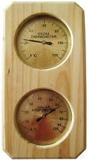 Dr. Richter Sauna-Thermo-Hygrometer - Saunathermometer  - Thermometer Sauna