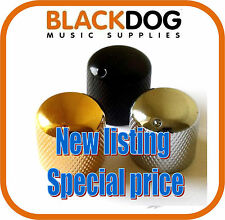 Steel guitar control knob in chrome black or gold finish for tone or volume pot