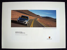 """PORSCHE OFFICIAL CAYENNE S """" SQUIGGLIEST LINES """" SHOWROOM POSTER 2003 LARGE"""