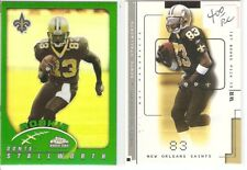 DONTE STALLWORTH ROOKIE REFRACTOR LOT 2002 TOPPS CHROME 237 FLEER 4 NO SAINTS