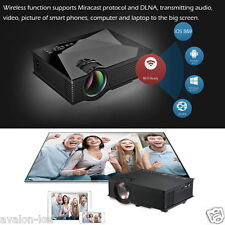 Projecteur LCD LED HD 1080P WiFi Sans Fil 1200 Lumens HDMI Phone DNLA USB SD 2M