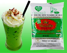 Thailand Green Tea Matcha Food Drink Mix Sugar or Milk Number One Brand Bag 200g
