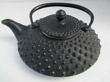 TETSUBIN BLACK CASTIRON JAPANESE HOBNAIL TEAPOT 20 oz SMALL BEAUTIFUL SHAPE 4201
