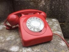 VINTAGE GPO RED TELEPHONE.