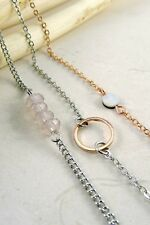 Women Fashion Jewelry Retro Vintage 90's Triple Chain Choker Necklace Rose Gold