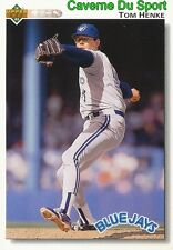 395 TOM HENKE TORONTO BLUE JAYS  BASEBALL CARD UPPER DECK 1992