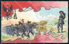 Militari X Regg Bersaglieri 34º 16º 35º Battaglione Anselmi cartolina XF1226