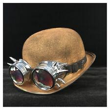 e466f705237c75 Women Men Steampunk Bowler Hat Glasses Topper Top Hats Billycock Groom Hat