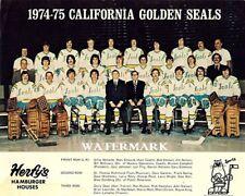 NHL 1974 - 75 California Golden Seal Team Photo Color 8 X 10 Photo Free Shipping