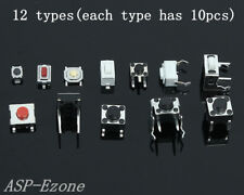 120pcs Mixed Touch Switch Micro Switch Button Switch 10pcs for each 12 types