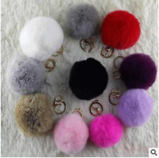 Real Rabbit fur ball pendant key ring bag charm mobile phone accessories pendant