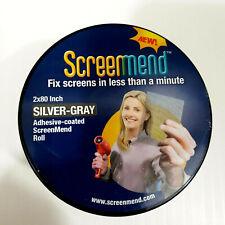 """FiberFix Screenmend Window Mesh Screen Repair Kit 2"""" x 80"""" Roll Silver/Gray"""