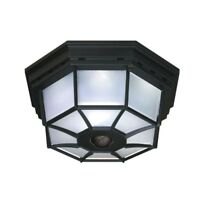 Motion Activated Outdoor Ceiling Light 5.125 In Black Motion Sensor Lighting New