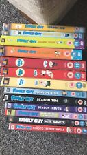 Family Guy DVD Boxsets 1,2,3,4,6,7,8,9,10,11 and 3 special Episodes