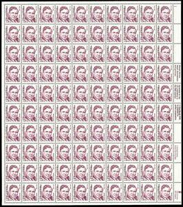 2192, 75¢ Wendell Wilkie Dull Gum Sheet of 100 Stamps - Stuart Katz