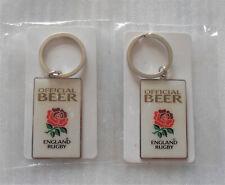 England Rugby Key Ring, (English Rose) x 2 - New & Sealed