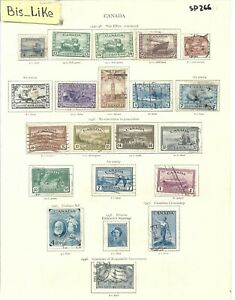 BIS_LIKE:many stamps Canada 1942/51 used /MH LOT SEP 03-266