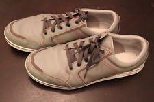 Ashworth Cardiff Size 14 Spikeless Golf Shoe Dark Light Grey Red Leather