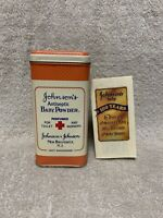 Vintage Johnson & Johnson Antiseptic Baby Powder 100th Anniversary Tin w Coupons