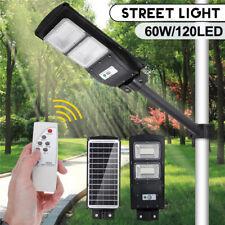 90000LM 120 LED Solar Street Light PIR Motion Sensor Lamp Wall Garden W/ Remote