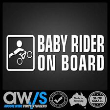 BABY ON BOARD STICKER DECAL / FOR CAR WINDOW KIDS BMX BICYLE BIKES