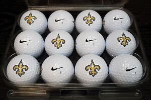 1 Dozen (New Orleans Saints NFL Logo) Nike Assorted Mint Collectors Golf Balls