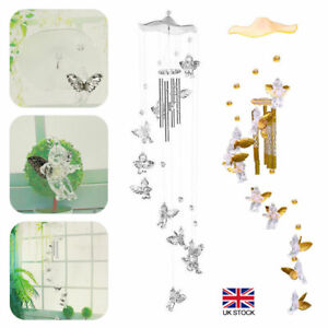 Wind Chimes Garden Outdoor Ornament Bird Angel Fairy 70cm Clear Sounds Nice Gift