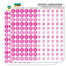 Day Off Dots Planner Calendar Scrapbooking Crafting Stickers